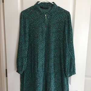 Zara green dress tunic